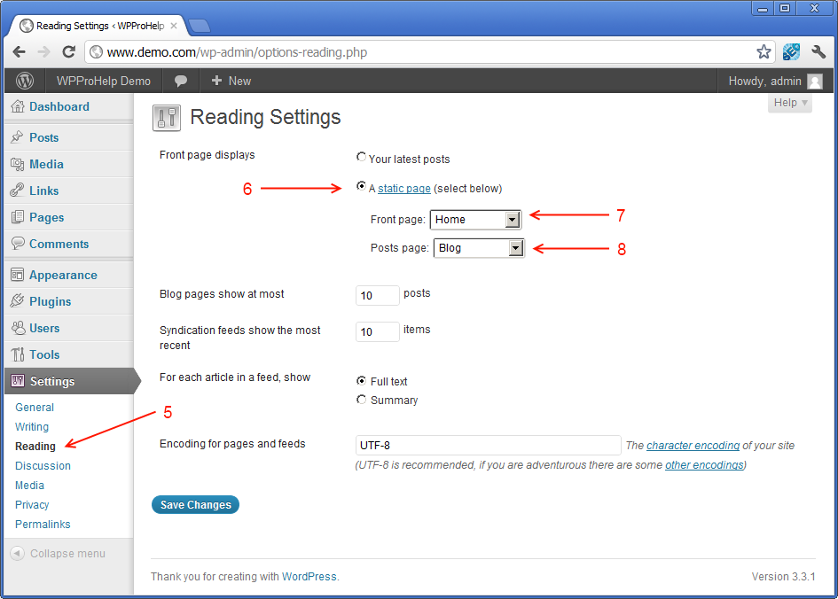 configuring-WordPress-to-use-static-front-page