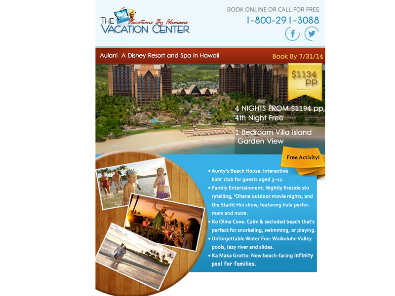 Vacation Center Email Template