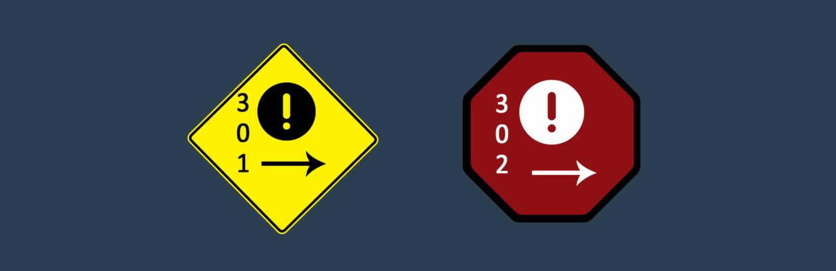 301 & 302 Redirection, 301 response code, 302 response code,