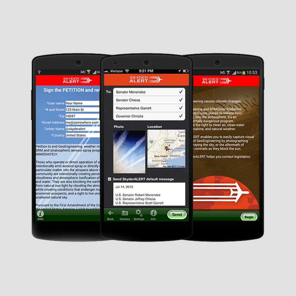 Skyder Alert Mobile App