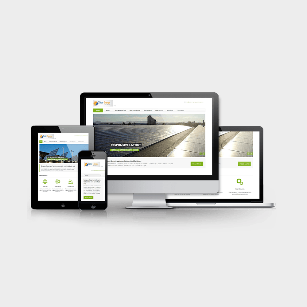 Reponsive Website for Solar Energy Business