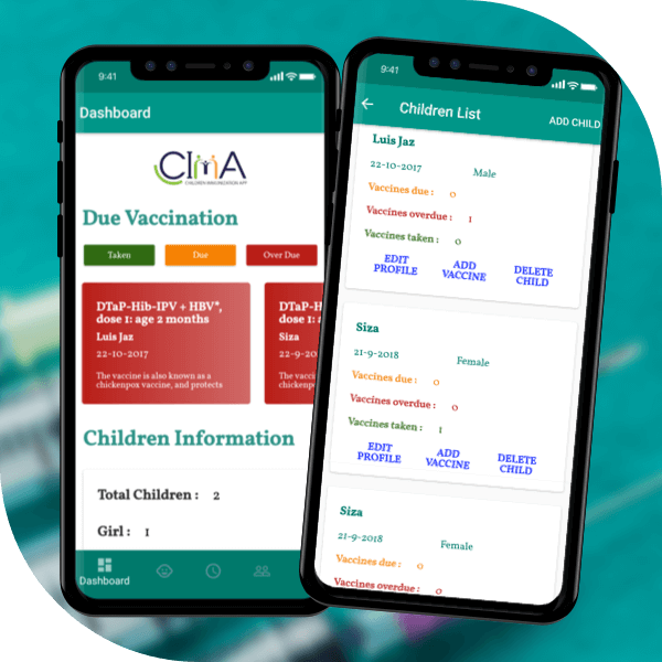 CImA  Vaccine Reminder app