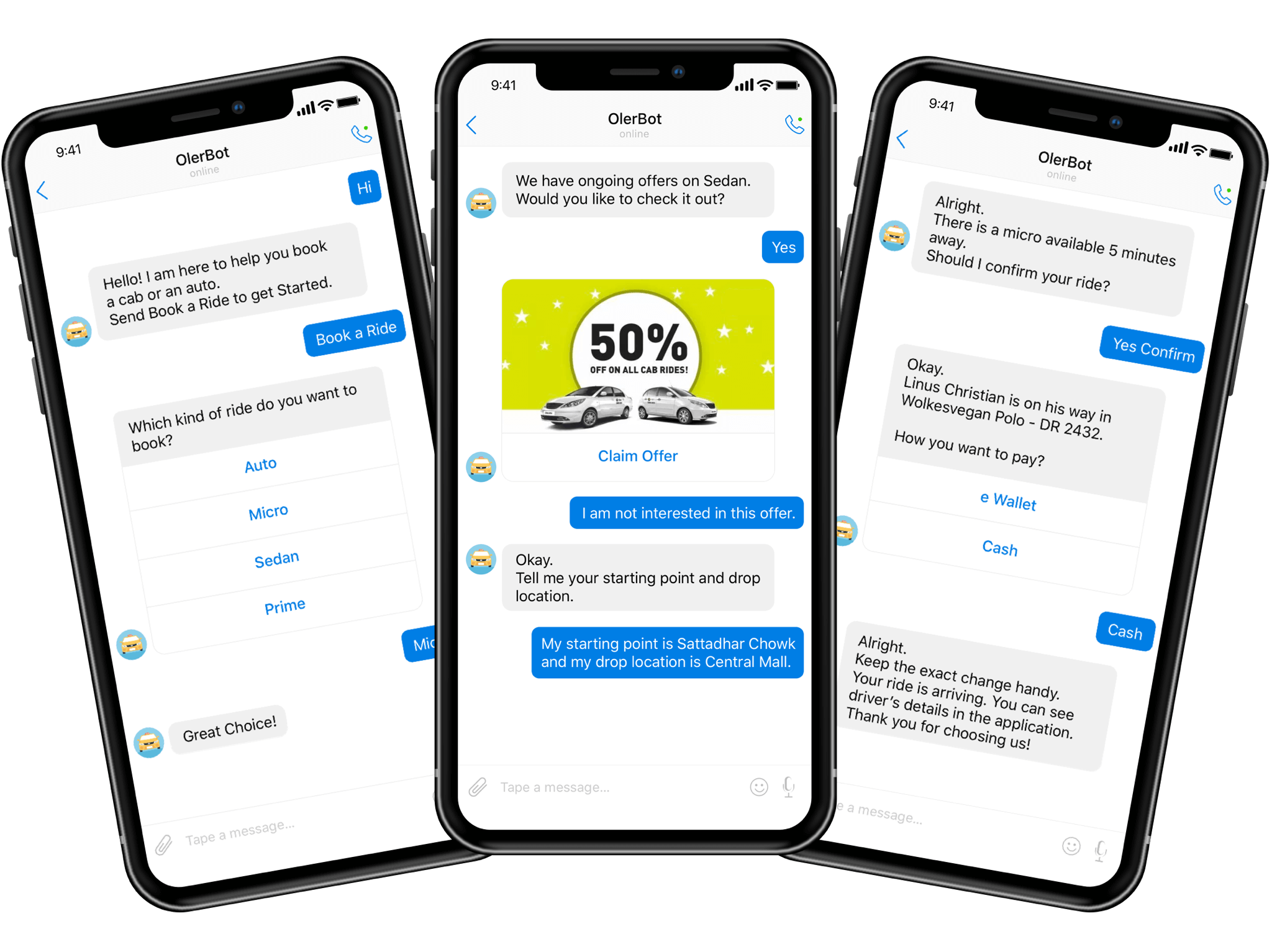 How much it will cost to develop a chatbot system for Taxi