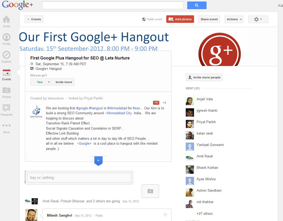 Google+ Hangout