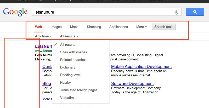 Google Search Tools UI Readjusted/ Revamped in Header