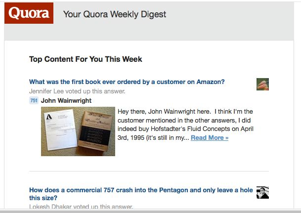 Quora Weekly Digest