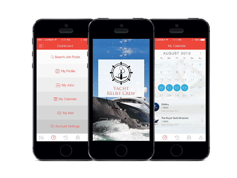 Yacht Relief Crew Mobile Application