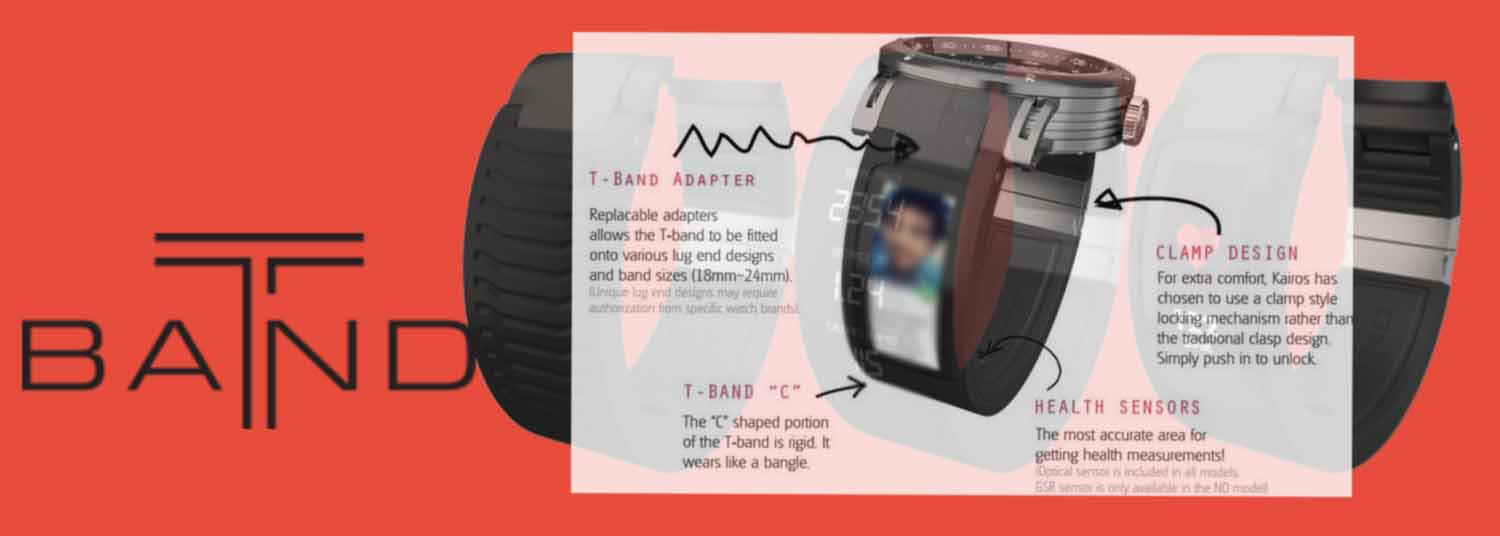 Kairos T-Band: A Smart Band That Works with Any Watch!