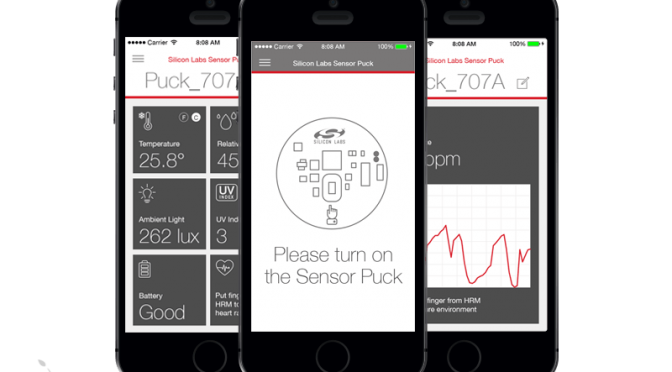 Home Automation Mobile Sensor POC iOS