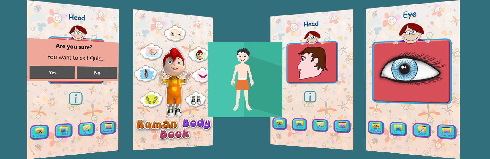 Bodyparts Book App : A Perfect Guide for Learning of Bodyparts Kids!