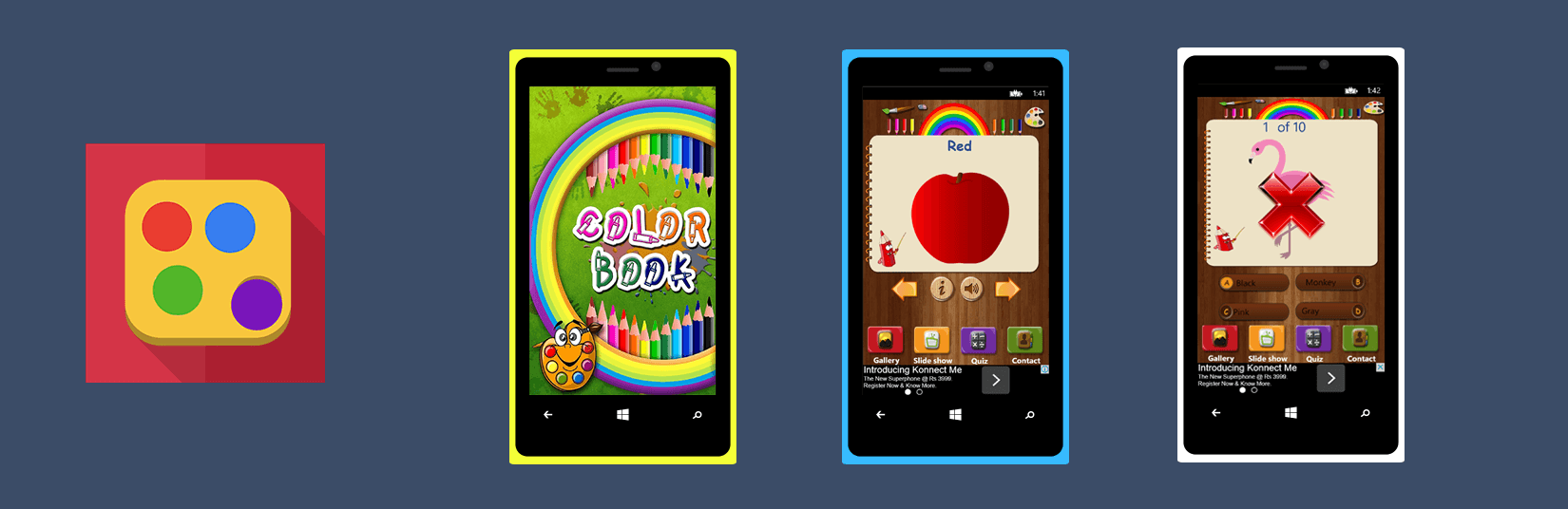 Let Your Kids to Identify Color by own through Color Book App! Now ...