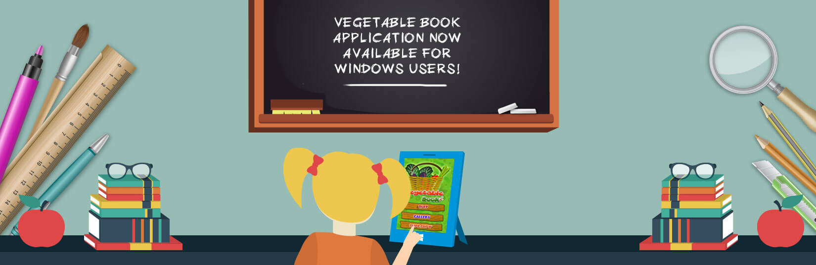A Popular Vegetable Book Application Now Available for Kids For Windows Users