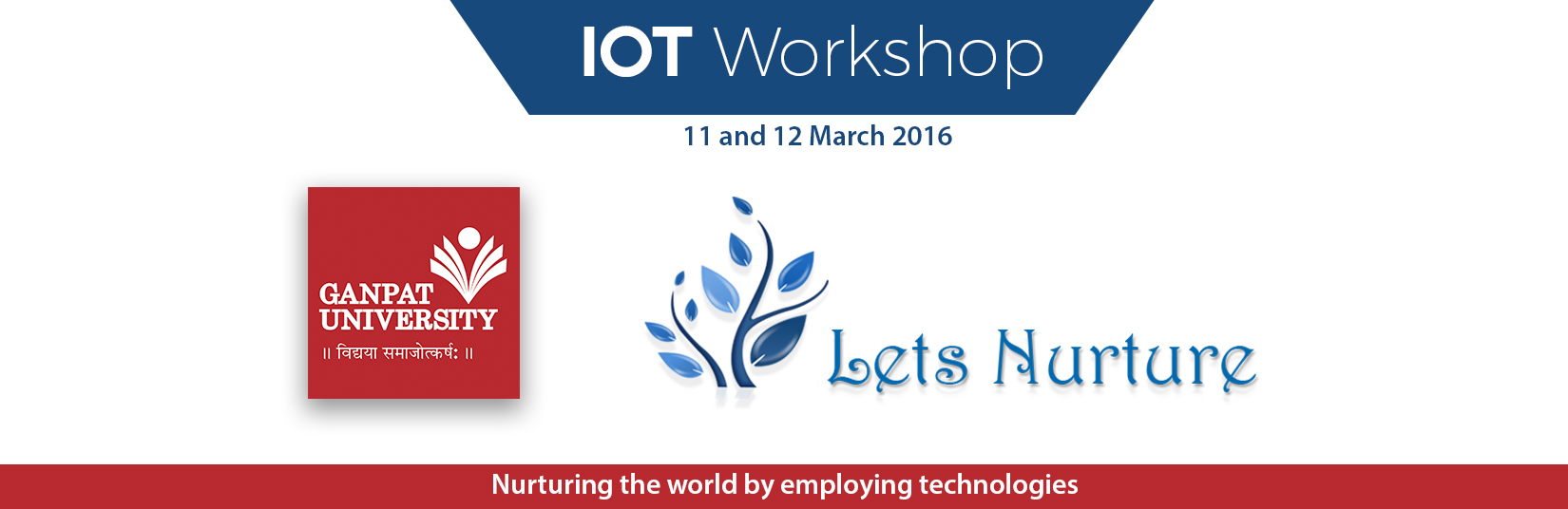 Workshop on Internet of Things at Ganpat University, Ahmedabad