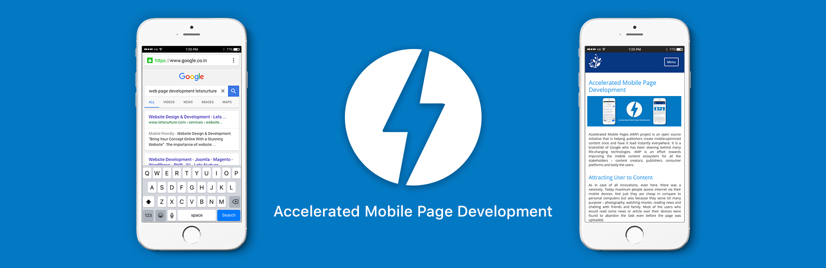 AMP mobile pages development
