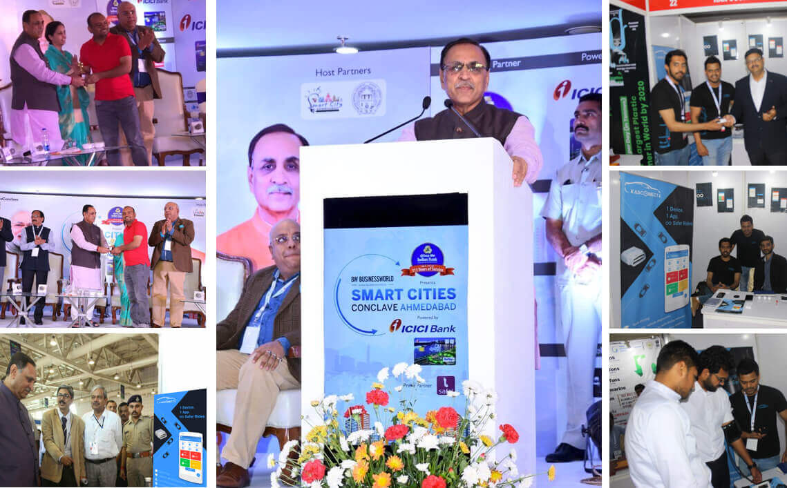 Gujarat CM congratulates KarConnect for Best Startup 2018 at Smart Cities Conclave Ahmedabad