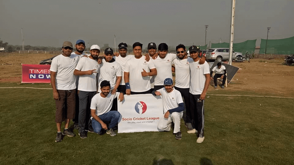Team Let's Nurture Debuts in Socio Corporate Cricket League
