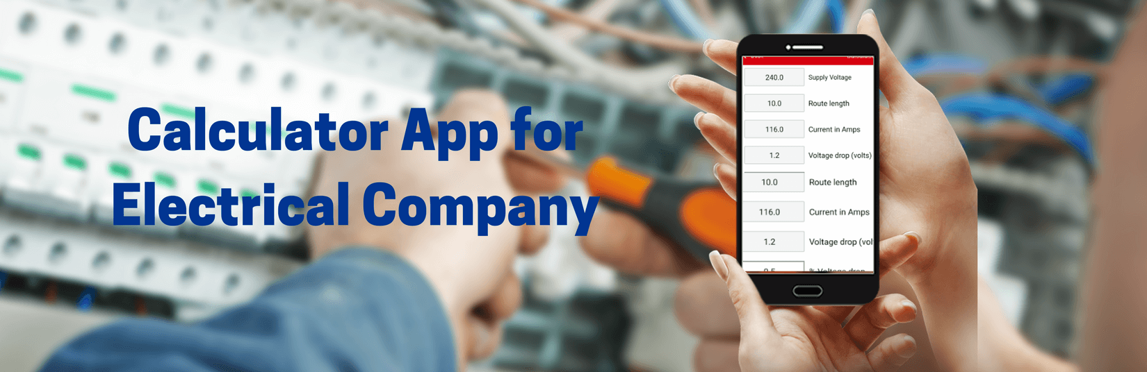 Calculator App for Electrical Company and Client Review