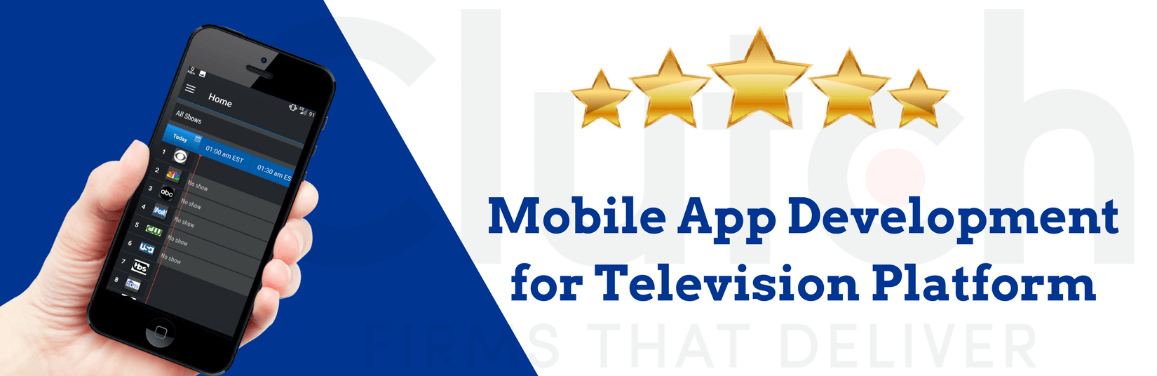 Clutch Review for Mobile App Development for Television Chat Platform