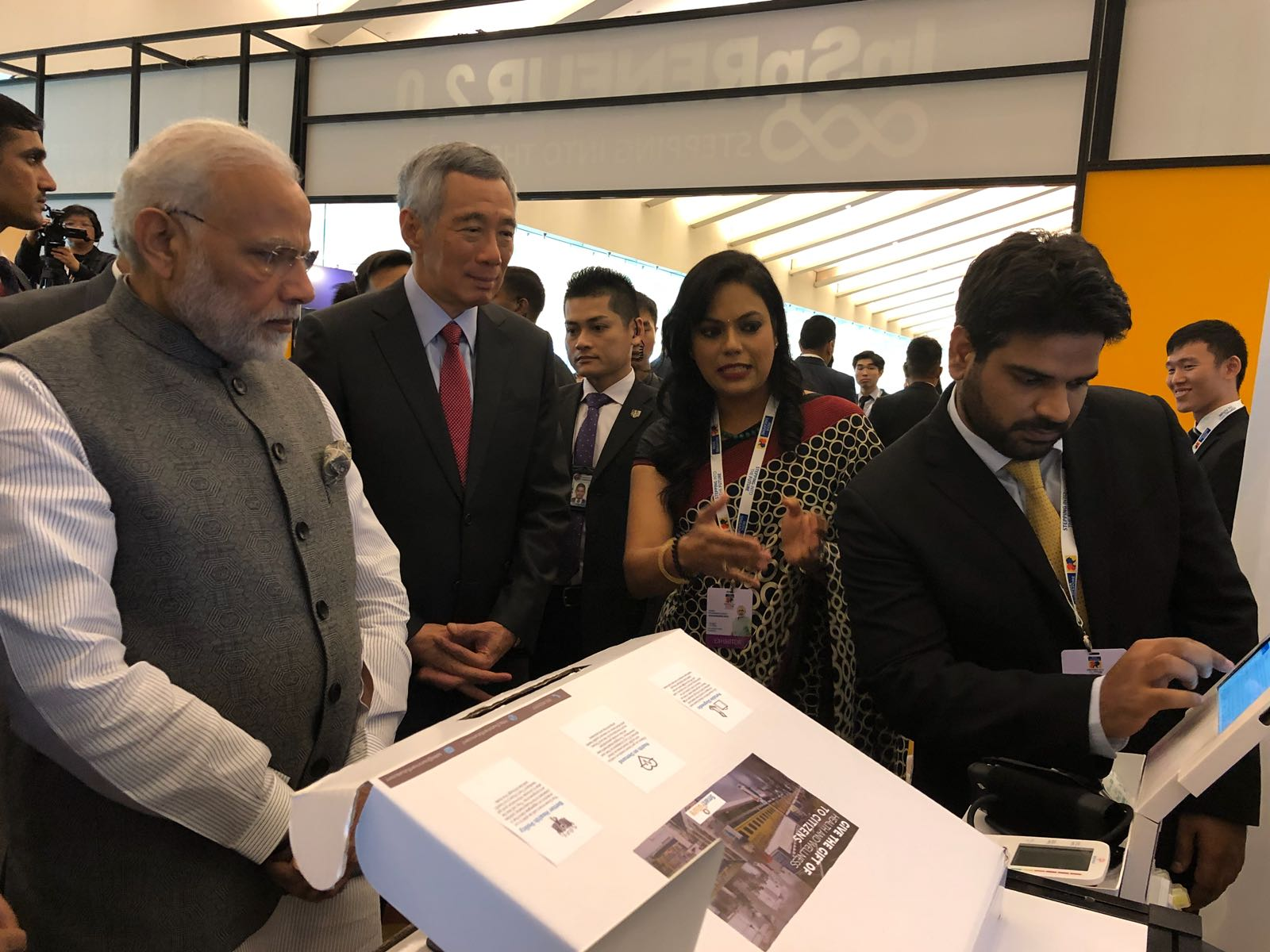 IoT Healthcare App Solutions by Let's Nurture for a client in Singapore gets rave reviews from PM of India at an Exhibition in Singapore
