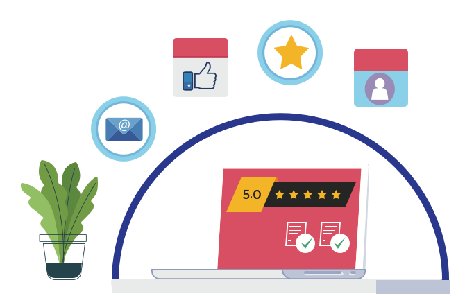<span>Happy </span> <br> Clients and Reviews