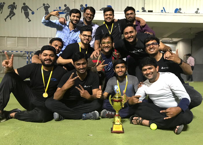 Team Let's Nurture Wins a Trophy on Debut at Socio Gully Cricket